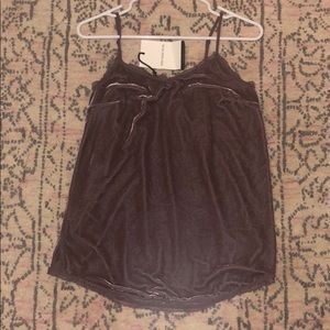 Purple Velvet Tank Top Size S New With Tags
